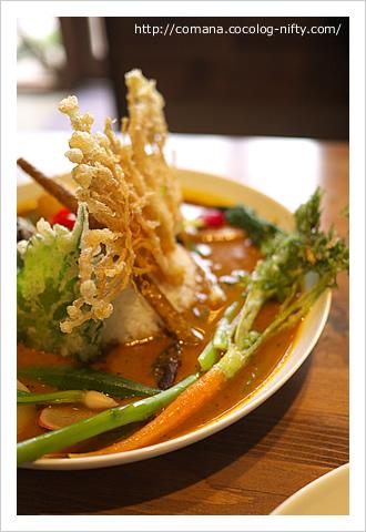 野菜カレーのニンジン