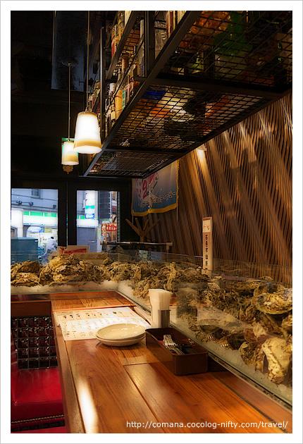 オストラ・デ・オーレのカウンター 牡蠣がずらり