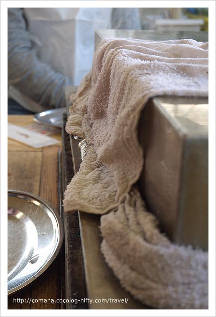 謎のタオルは蒸気止め