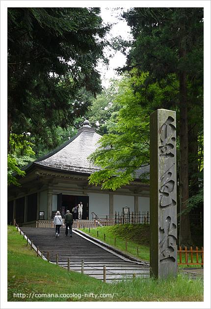 中尊寺・金色堂(の前の階段 笑)