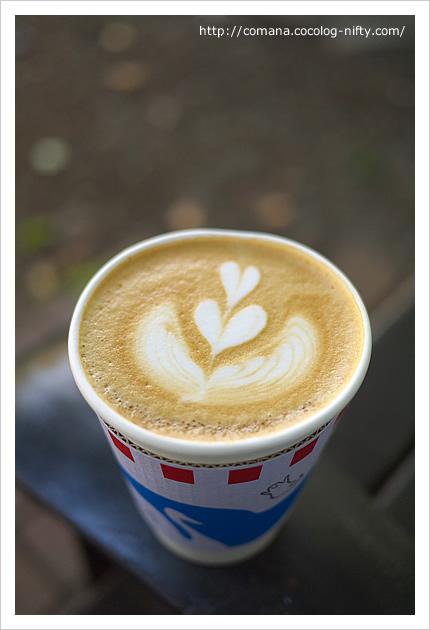 ブルースカイコーヒーのカフェラテ