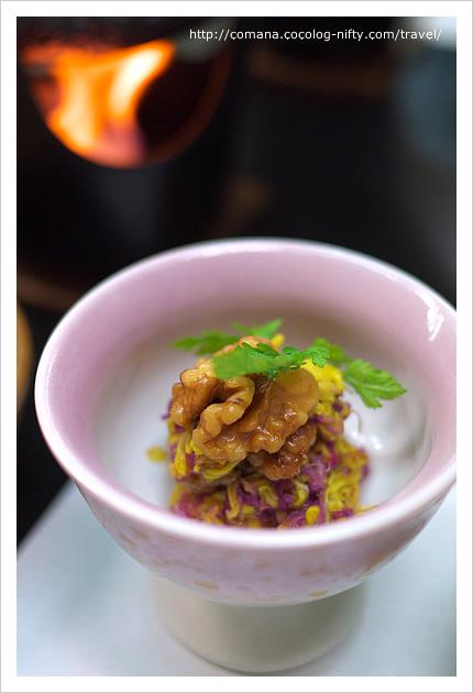 二色菊と胡桃の和え物