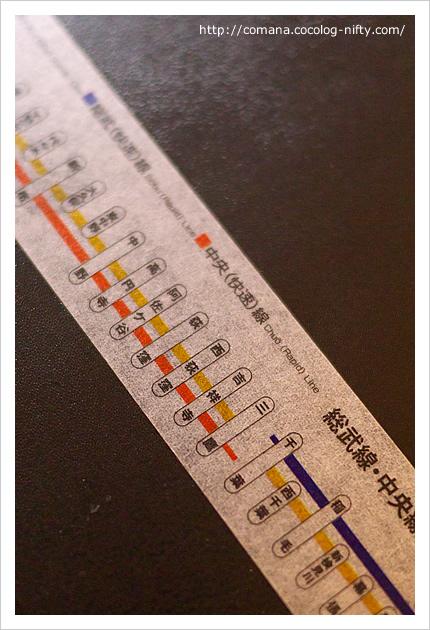 おなじみの路線図がマスキングテープに!