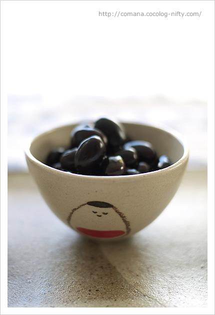 黒豆は会津の器で