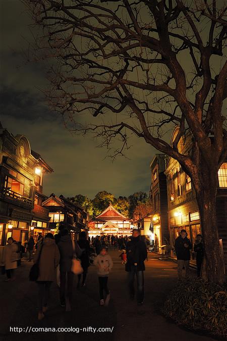 江戸東京たてもの園のライトアップ